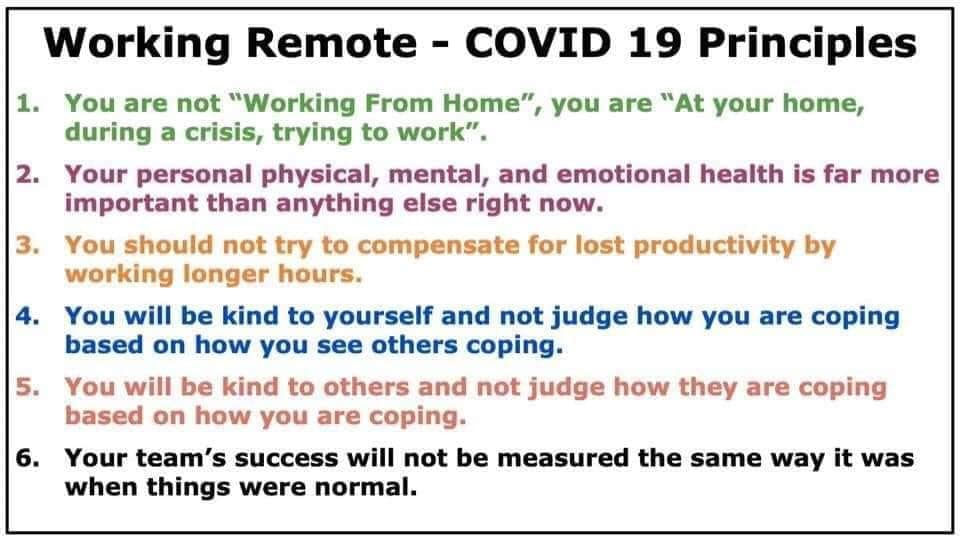 Working Remote during Covid 19